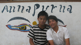 Sunil and Arjun (right) in Umbrella, July 2012
