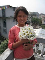 Pasang on the roof of our Sagarmatha home
